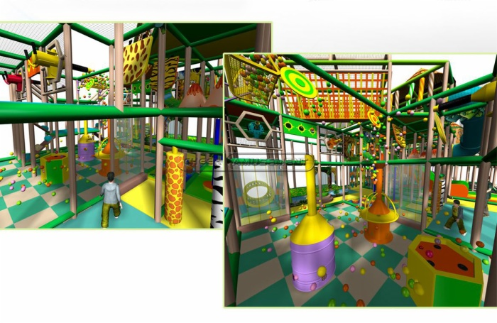 Cheer Amusement Children Play Centre Jungle Themed Indoor Soft Playground Equipment