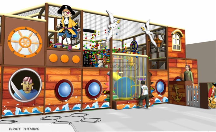Cheer Amusement Children Indoor Underwater And Pirate Themed Playground 20130216-003-C-3