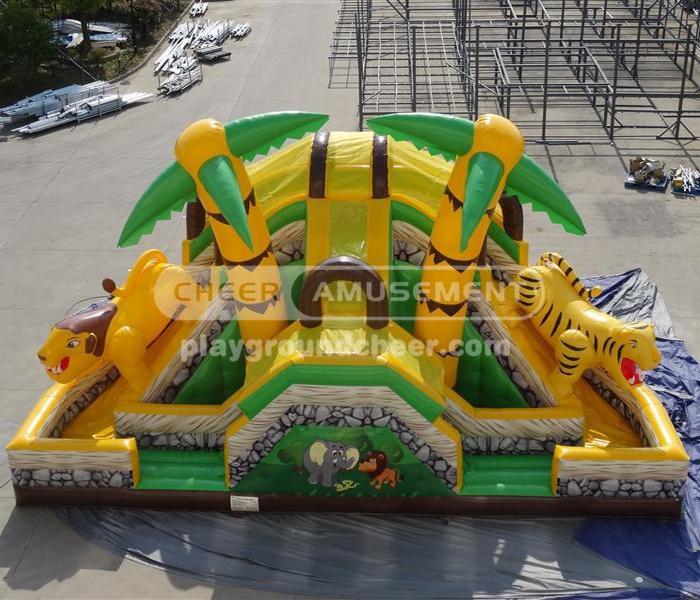 Cheer Amusement Animal Kingdom Inflatable Slide