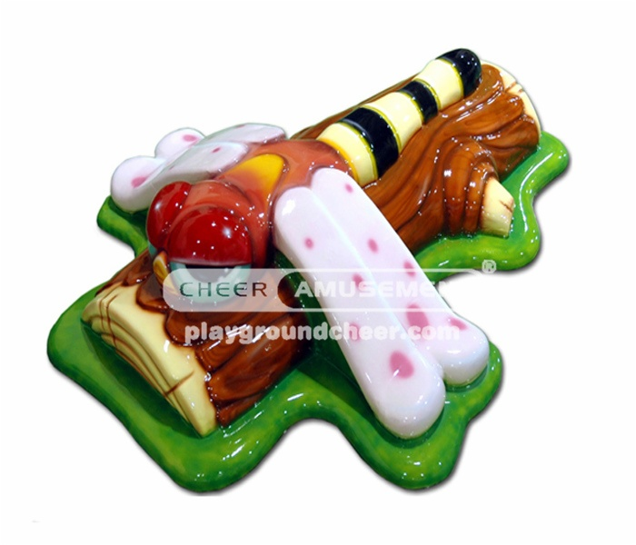 Sculpture soft seat with dargonfly decoration