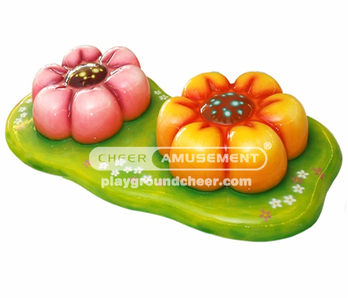 Cheer Amusement soft foam orange flower with pink painting