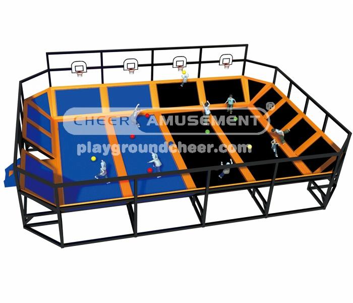 Cheer Amusement 2 in 1 trampoline park CH-ST130003