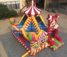 Cheer Amusement Circus Themed  Inflatable Bouncer Park