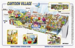 Cheer Amusement Cartoon Village Themed Indoor Playground Equipment