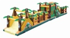 Cheer Amusement Jungle Themed Obstacle Courses Inflatable Obstacle