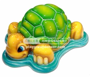 The tortoise shaped item soft  play with lovely cartoon decoration